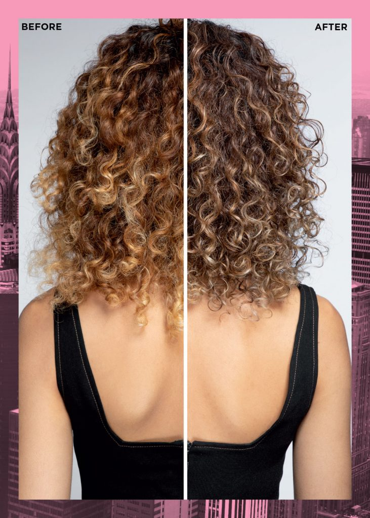 Redken Shades EQ Matte Before and After